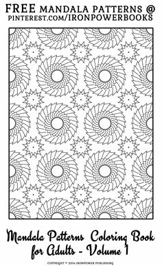 Free Mandala Patterns Coloring Pages for Adults Blank Coloring Pages, Free Adult Coloring Pages, Pattern Coloring Pages, Mandala Coloring Pages, Printable Coloring Pages, Coloring Books, Mandala Pattern, Zentangle Patterns, Color Me Badd