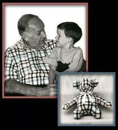I love this idea! Take an old shirt from a loved one who has passed away and have a stuffed animal made from it.