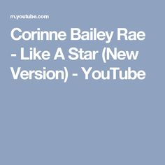 Music video by Corinne Bailey Rae performing Like A Star (New Version). (C) 2006 EMI Records Ltd Corinne Bailey Rae, Wedding Reception Music, Stars, Youtube, Sterne, Youtubers, Star, Youtube Movies