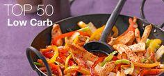 Die beliebesten Low Carb Rezepte: Hier haben wir die 50 am besten bewerteten Rezepte für Hauptgerichte, süßes Gebäck, Brot & Co. mit wenig Kohlenhydraten zusammengestellt.