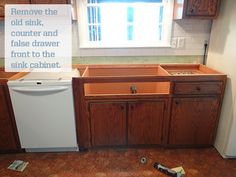 """One Project at a Time - DIY Blog: Installing an Ikea Domsjo Sink in a 36"""" Sink Base Cabinet"""