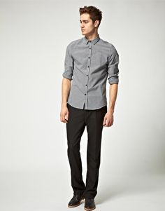 I'm gonna try this shirt with suspenders and maybe a dark red skinny tie.