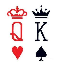 Resultado de imagem para king and queen tattoos