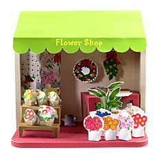 FREE Printable store fronts & doll house rooms - translate page . 3d Paper Crafts, Paper Toys, Diy Paper, Paper Art, Diy And Crafts, Paper Doll House, Paper Houses, Paper Dolls Printable, Printable Flower