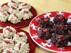 """Diese schokoladigen Quinoa-Wölkchen sind eine schöne und leckere Geschenkidee. Quinoa ist das """"Korn der Inkas"""" und zudem sehr eiweiss- und mineralienreich. Zutaten: Gepufftes Quinoa, weiße oder dun..."""