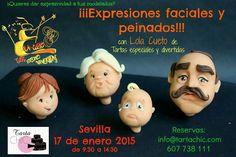 Tarta Chic: Curso modelado fondant expresiones faciales. Fondant, Cake Decorating, Movies, Role Models, Facial Expressions, Pies, Hilarious, Sevilla, Fondant Icing