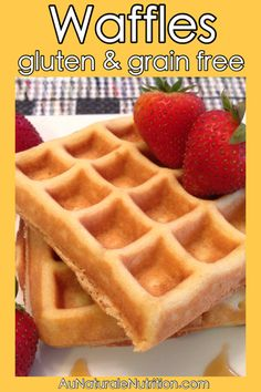Buttermilk Waffles! Ultra light, fluffy, and delicious! Gluten free, grain free, paleo, lower-carb, dairy free)  By Jenny at www.AuNaturaleNutrition.com