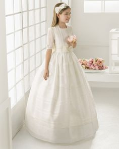 2016 first communion dresses for girls Satin Lace Half Sleeve Cheap Flower Girl Dresses  for weddings girls pageant dresses-in Flower Girl Dresses from Weddings & Events on Aliexpress.com   Alibaba Group