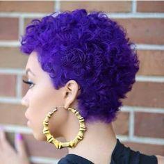 Natural Purple Curly Cut!