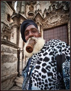 Again & again.... Mr. Wilki & his cigar. by Wanderingval :-) http://www.cuba-junky.com/havana/havana-city.htm