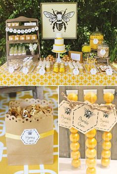 Baby Bumble Bee Party Adorable Baby Bumble Bee Party // Hostess with the ill save this one for when I have a little girl. My Baby B :-)Adorable Baby Bumble Bee Party // Hostess with the ill save this one for when I have a little girl. My Baby B :-) Baby Bumble Bee, Bumble Bees, Bumble Bee Cake, Bumble Bee Nursery, Mommy To Bee, Party Decoration, Bee Decorations, Festa Party, Ideas Para Fiestas