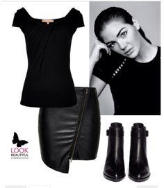Total black elegante e contemporaneo