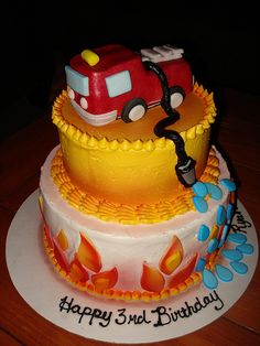 Fire Engine cake www.charley.salas@sbcglobal.net by Charley And The Cake Factory, via Flickr