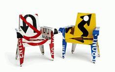 จากป้ายจราจรมาเป็นเฟอร์นิเจอร์สุดแนว… Upcycled Furniture By Boris Bally
