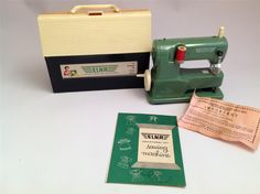 Vintage ELNA Educational Toy Sewing Machine with Case and Instructions Hasbro | eBay