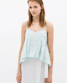 Image 1 of POPLIN STRAPPY TOP from Zara