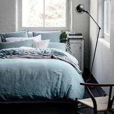 Bedding - Home Republic Vintage Washed Bed Linen in Duck Egg Blue at Adairs