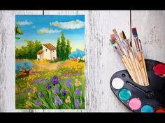 Как нарисовать тюльпаны на фоне гор гуашью! #Dari_Art - YouTube
