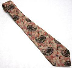 Vintage Necktie Don Loper Tie Brown Rust Orange by sweetie2sweetie, $13.99