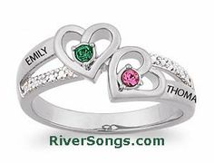 Personalized Sterling Silver Couples Heart Birthstone & Name Diamond Accent Ring this can be a moms ring too Engagement Rings Couple, Unique Diamond Engagement Rings, Couple Rings, Engagement Ideas, Cheap Promise Rings, Diamond Promise Rings, Mom Ring, Do It Yourself Fashion, Clean Gold Jewelry