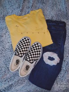 Teen Girl Outfits, Teen Fashion Outfits, Outfits For Teens, Trendy Outfits, Winter Outfits, Summer Outfits, Church Outfits, Checkered Vans Outfit, Kardashian
