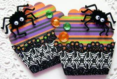 Halloween Paper Cupcake Embellishments-Set of 2 on Etsy, $2.99