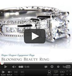 http://www.BloomingBeautyRing.com #VintagePrincessCutWeddingRings #VintageEngagementRings #VintageSettings #VintageRings MostUniqueWeddingRings