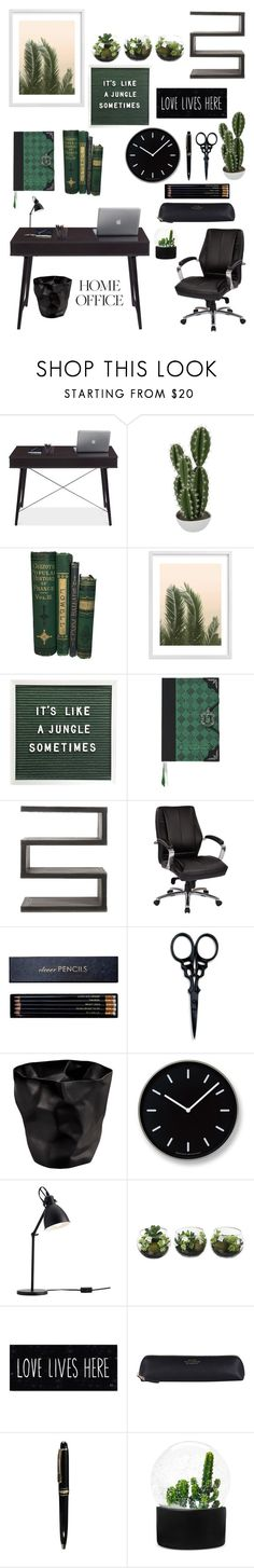 """""""Work Hard: Home Office"""" by yinggao ❤ liked on Polyvore featuring interior, interiors, interior design, home, home decor, interior decorating, Abigail Ahern, Wilder California, Andrew Martin and Office Star"""