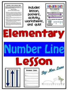 Elementary Number Line Lesson from Mrs Lane on TeachersNotebook.com -  (34 pages)  - Are you looking for a basic lesson that introduces number lines? Look no further! Save your valuable time because you found it!