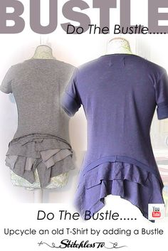 upcycle t-shirt with bustle