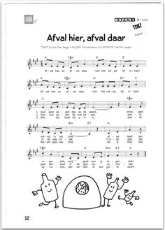 Liedje afval Kindergarten, Primary Education, Ecology, Cool Kids, Sheet Music, Poems, Homeschool, The Unit, Teaching
