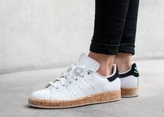 basket Adidas Stan Smith Luxe W White Black Cork pas cher (1)