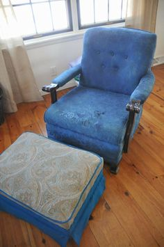 Transforming A White Chair With Rit Dye Via Www Plumtreeplace Furniture