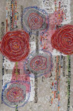 bloemen in het veld mixed media