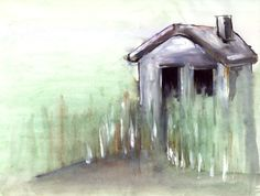 House ca 1992. #painting #paintings #watercolor #house #penandink #acrylic