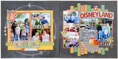 #papercraft #Scrapbook #layout.  OurAdventure Top Layouts Giveaway!! with Lisa Bearnson