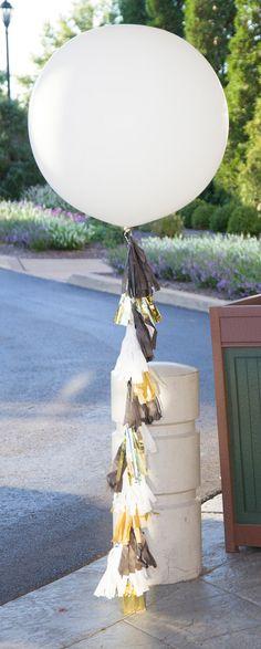 "36"" Giant White Large Latex Balloon, 36 inch Balloon, Birthday, Wedding, Party, Decor prop."