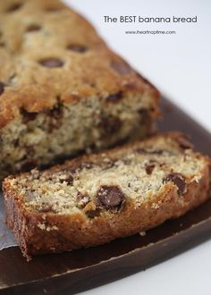 The best chocolate chip banana bread I have ever had... It is super soft, easy to make and absolutely delicious! #chocolates #sweet #yummy #delicious #food #chocolaterecipes #choco #chocolate