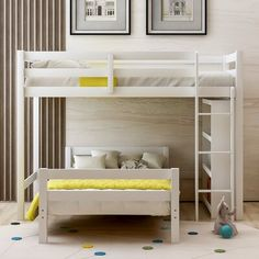 Bunk Bed Rooms, Bedrooms, Twin Size Loft Bed, Beds For Small Spaces, Bunk Beds With Storage, Bed Shelves, Bunk Bed Designs, Shared Rooms, Room Planning