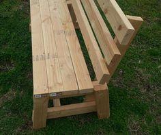 White Wood Garden Bench Solid Handmade Bench With by biggergez