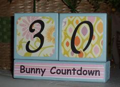 Hey, I found this really awesome Etsy listing at https://www.etsy.com/listing/94641303/easter-bunny-countdown-wood-blocks