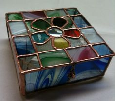 Buy Stained Glass Jewelry Box - M/s. Svocan Handicrafts is leading Manufacturer & Exporters of Stained Glass Jewelry Box Stained Glass Designs, Stained Glass Projects, Stained Glass Patterns, Stained Glass Art, Mosaic Glass, Glass Jewelry Box, Leaded Glass, Beveled Glass, Glass Boxes