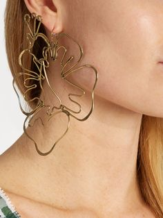 Hibiscus-drop earring | Rosie Assoulin | MATCHESFASHION.COM