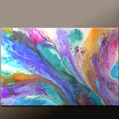Abstract Canvas Art Painting Canvas 36x24 Original by wostudios, $129.00