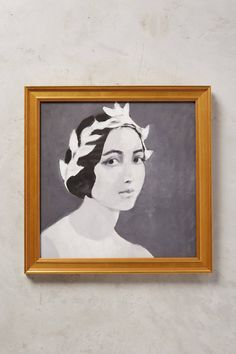 Portrait Art Print Framed