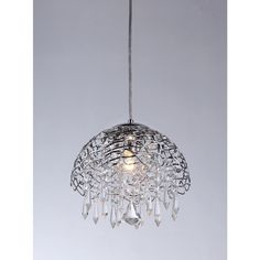 Hailey 1-light Chrome 12-inch Crystal Chandelier
