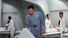 Admiral Kirk in Medical TMP Doctor Chapell and Doctor McCoy in the background