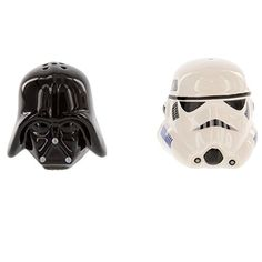 Ceramic Star Wars Darth Vader and Storm Trooper Salt and Pepper Shakers