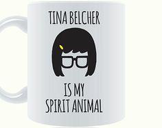 Tina Belcher Mug - Is My Spirit Animal - Louise Belcher - Bob's Burgers - Funny Coffee Mug - Unique Coffee Mug - Gift