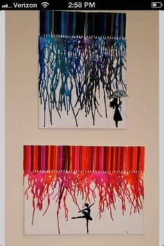 Awesome crayon melting picture.